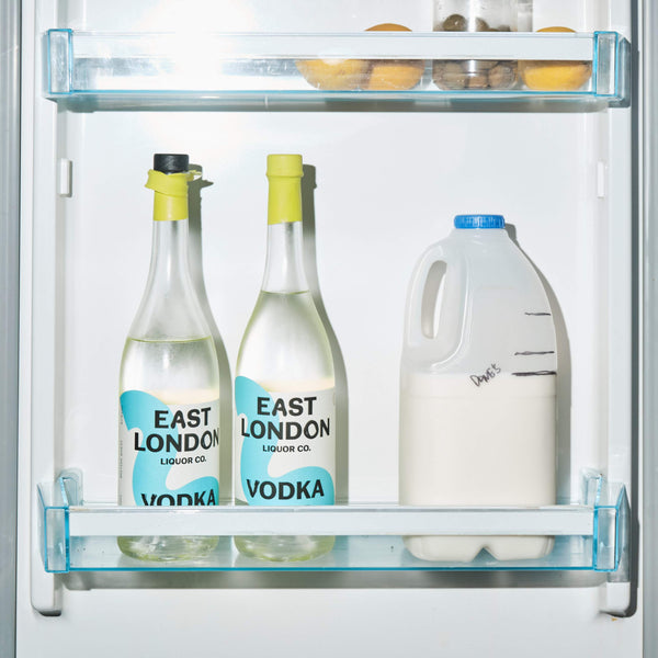 East London Vodka In Fridge