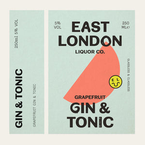 East London Liquor Gin and Tonic Cans