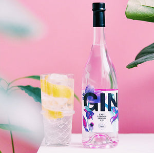 East London Liquor and Royal Botanic Gardens, Kew Gin Bottle