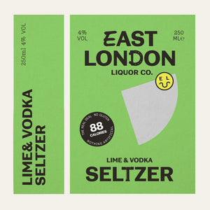 East London Liquor Lime and Vodka Seltzer Can