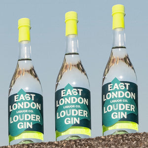 East London Liquor Louder Gin Bottles