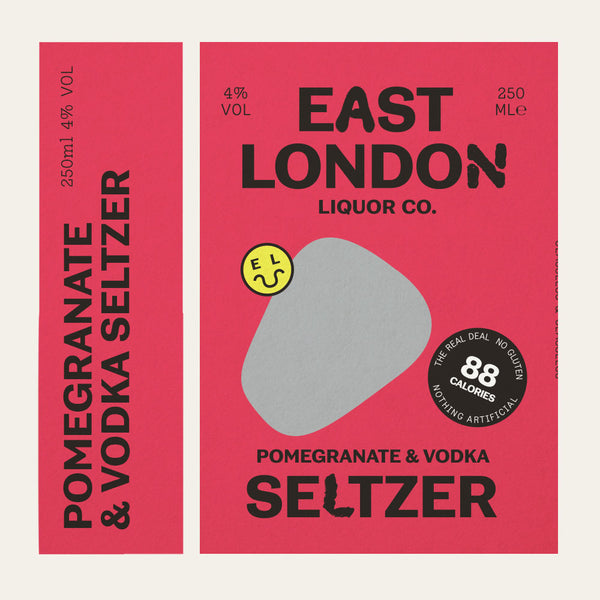 East London Liquor Pomegranate and Vodka Seltzer Can