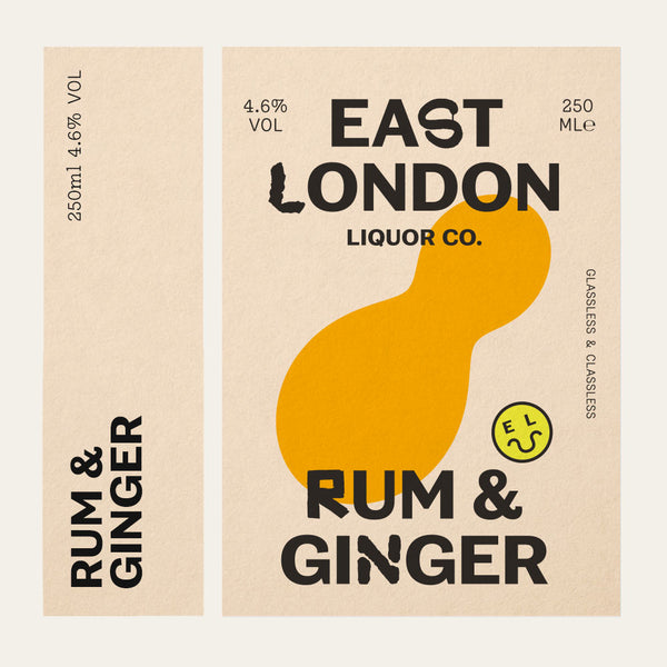 East London Liquor Rum and Ginger Cocktail Can