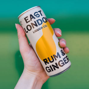 East London Liquor Rum and Ginger Cocktail Can Detail