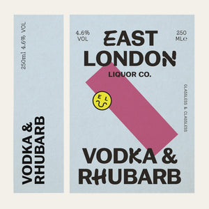 East London Liquor Vodka and Rhubarb Cocktail Can