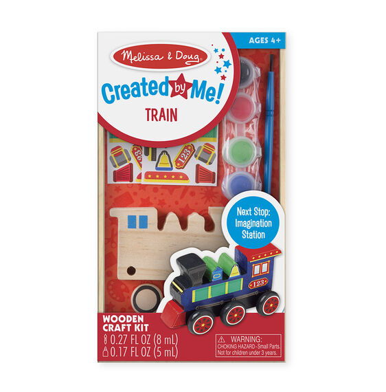 reated by Me! Train Wooden Craft Kit