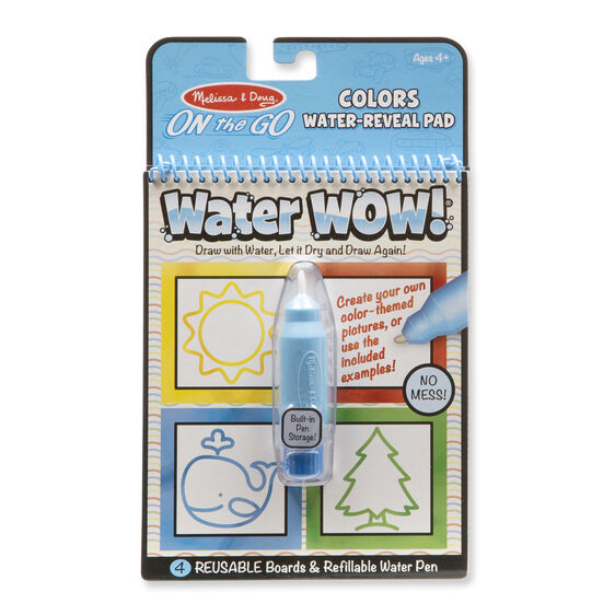 Water Wow!- Colors & Shapes Water Reveal Pad - On the Go Travel Activity