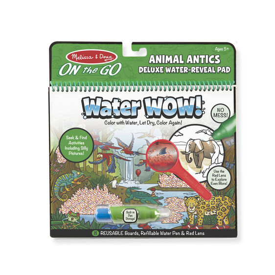 Water Wow!  Animal Antics Deluxe Water- Reveal Pad- On the Go Travel Activity