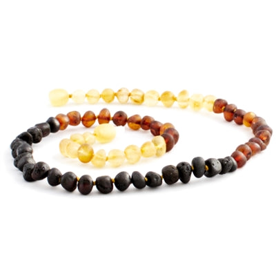 The Amber Monkey Baroque Baltic Amber 17-18 inch Necklace - Raw Rainbow