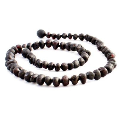 The Amber Monkey Baroque Baltic Amber 12-13 inch Necklace - Raw Chestnut