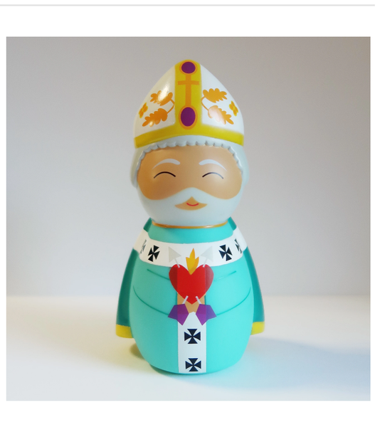 Saint Augustine of Hippo Shining Light Doll