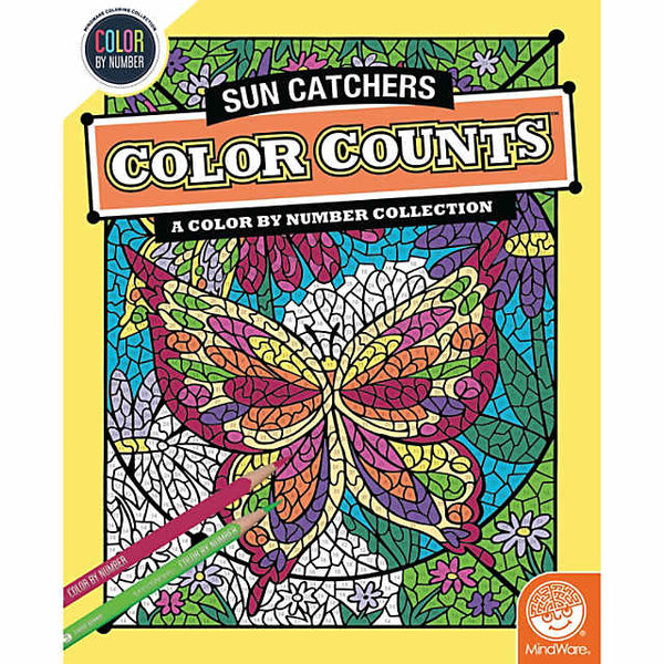 Color by Number Color Counts: Suncatchers