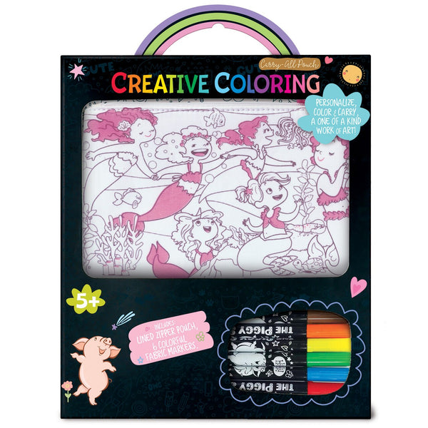 Mermaid Magic | Creative Coloring Carry All Pouch