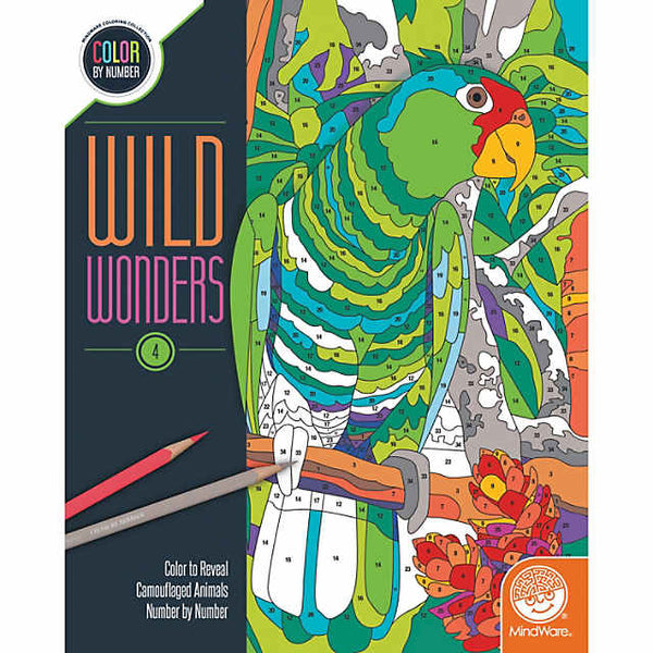 Wild Wonders Color by Number: Book 4