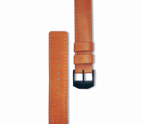 Brown Leather Watch Strap (black hardware) - Gregory Sylvia