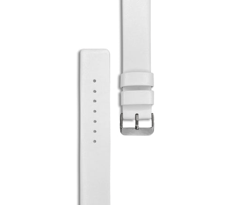 White Leather Watch Straps (with silver hardware) - Gregory Sylvia
