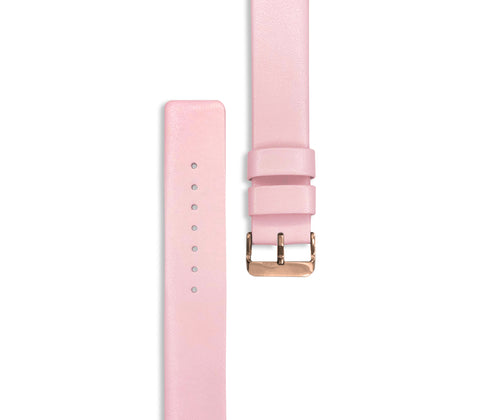 Pink Leather Watch Straps (with rose gold hardware) - Gregory Sylvia