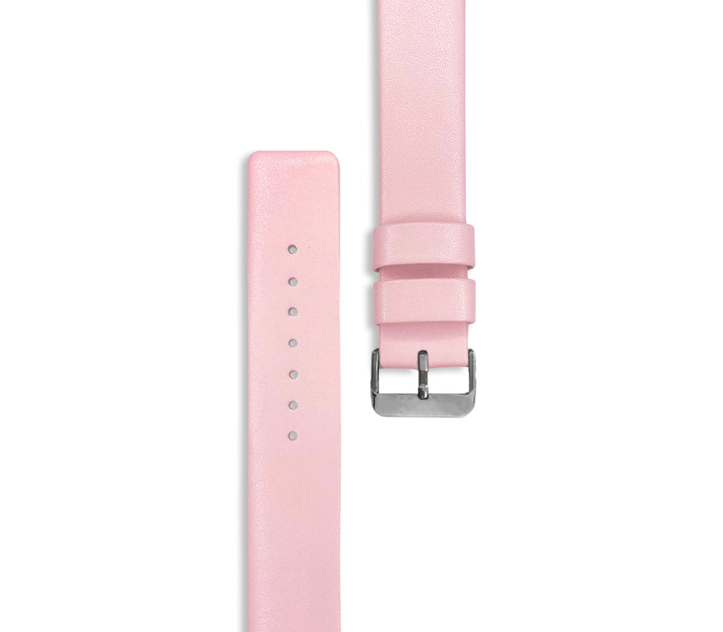 Pink Leather Watch Straps (with silver hardware) - Gregory Sylvia