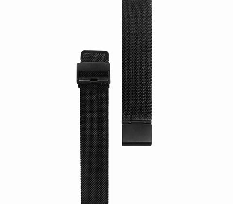 Black Mesh Watch Strap - Gregory Sylvia