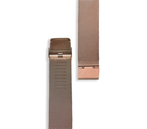 Rose Gold Mesh Watch Strap - Gregory Sylvia