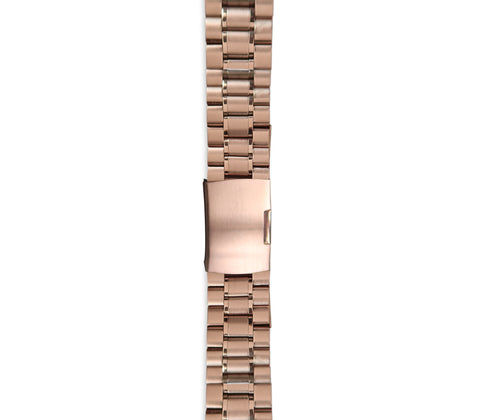 Rose Gold Link Watch Strap - Gregory Sylvia
