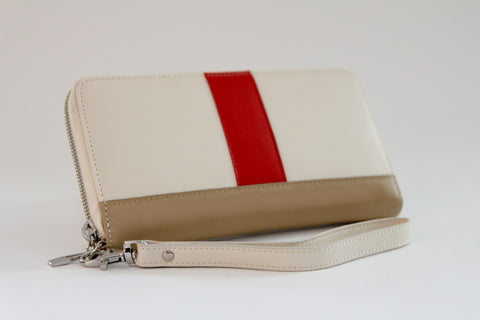 Crimson Crave wallet (cream) - Gregory Sylvia