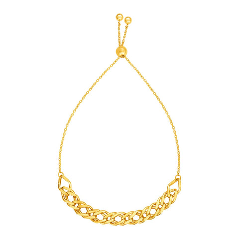 Adjustable Chain Bracelet in 14k Yellow Gold