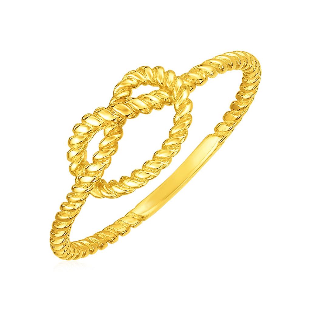 14k Yellow Gold Polished Knot Ring