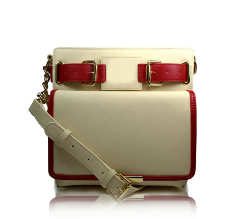 1913 Uptown Crossbody (cream) - Gregory Sylvia