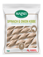 Load image into Gallery viewer, Spinach & Onion Kibbe (Frozen) - 18pc