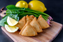 Load image into Gallery viewer, Spinach & Onion Triangles (Frozen) - 18pc