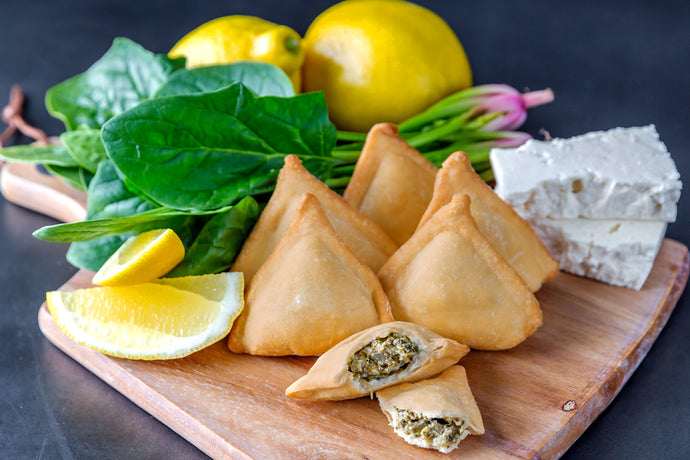 Spinach, Onion & Feta Triangles (Frozen) - 18pc