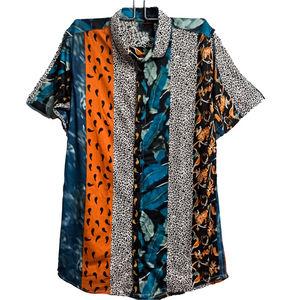 Leopard Leaves Abstract Shirt for Men