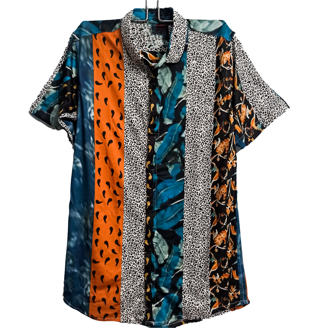 Leopard Leaves Abstract - Shirt