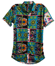 Load image into Gallery viewer, Floral Blue Culture Shirt for Men