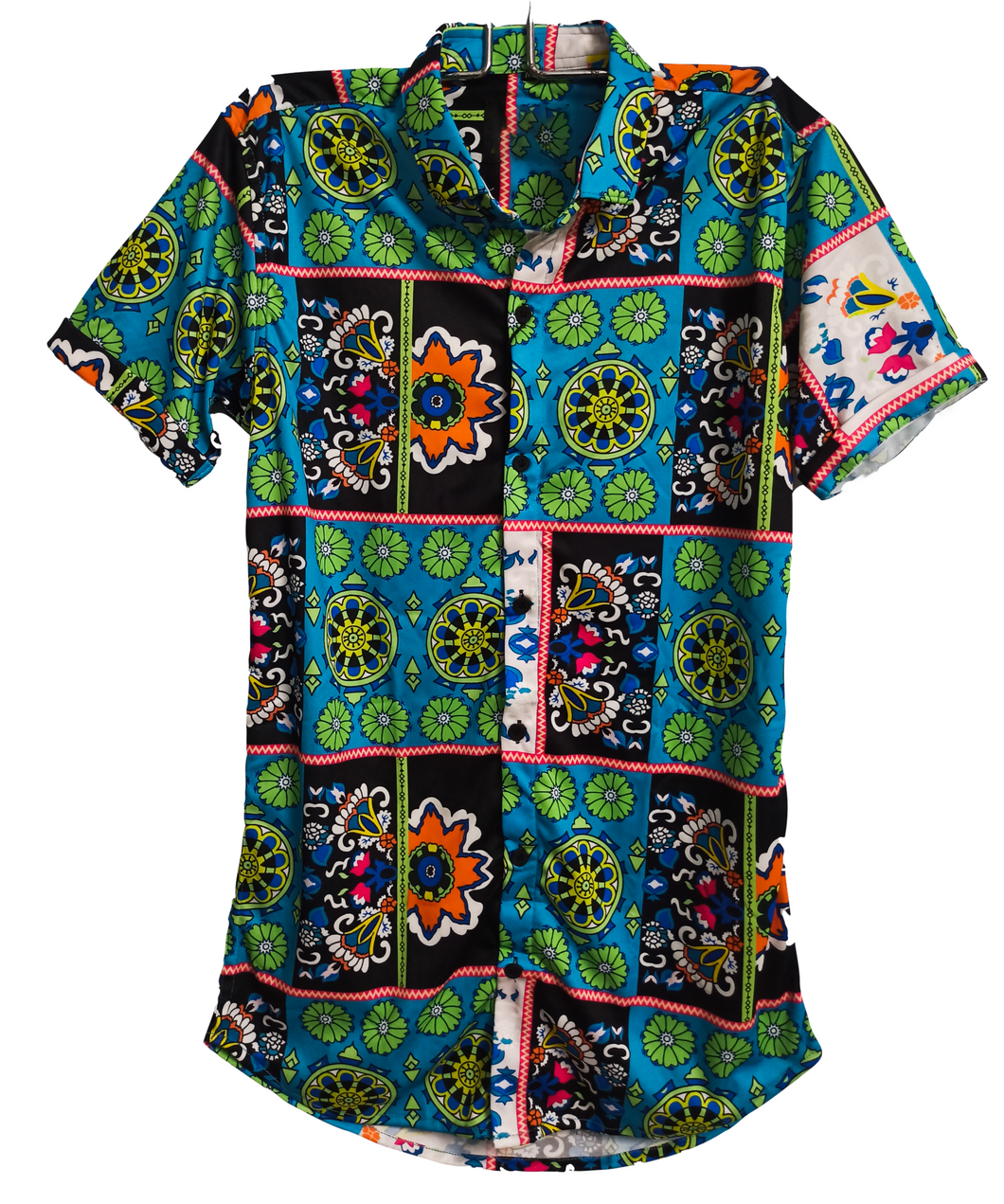 Floral Blue Culture Shirt for Men