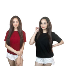 Load image into Gallery viewer, Pack of 2 Plain T-Shirts Combo For Women