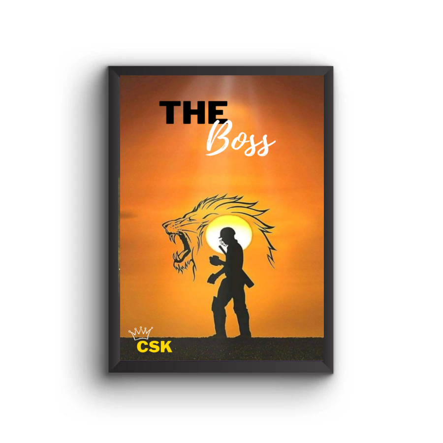 CSK - The Boss Poster Frame