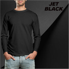 Load image into Gallery viewer, JET BLACK - PLAIN FULL-SLEEVES T-SHIRT