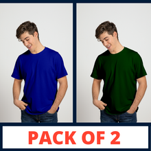 Load image into Gallery viewer, ROYAL BLUE & GREEN - PLAIN T-SHIRT COMBO
