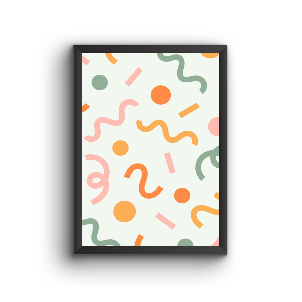 Abstract 010  Poster Frame