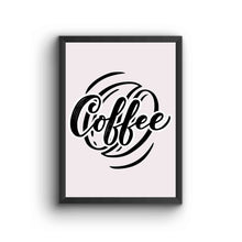 Load image into Gallery viewer, Black And White Coffee Poster Frame