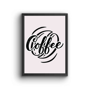 Black And White Coffee Poster Frame