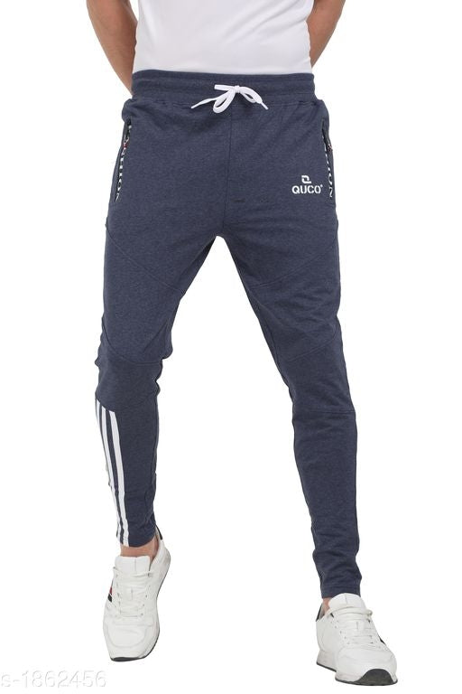 Blue Bottom White Stripes Track Pant