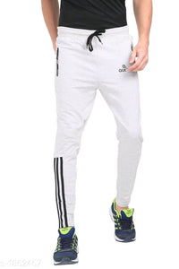 White Bottom Black Stripes Track Pant