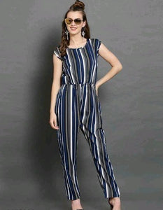 Blue Strips Jumpsuit