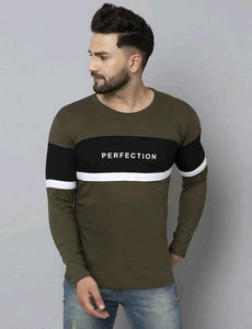 Green Black Perfection Colour Block T-Shirt