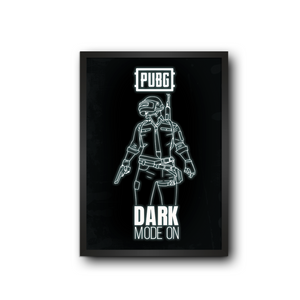 PUBG Dark Mode On Poster Frame