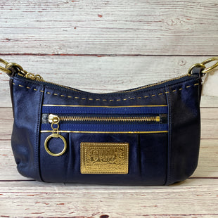 Primary Photo - BRAND: COACH STYLE: HANDBAG DESIGNER COLOR: NAVY SIZE: MEDIUM SKU: 204-20438-113258