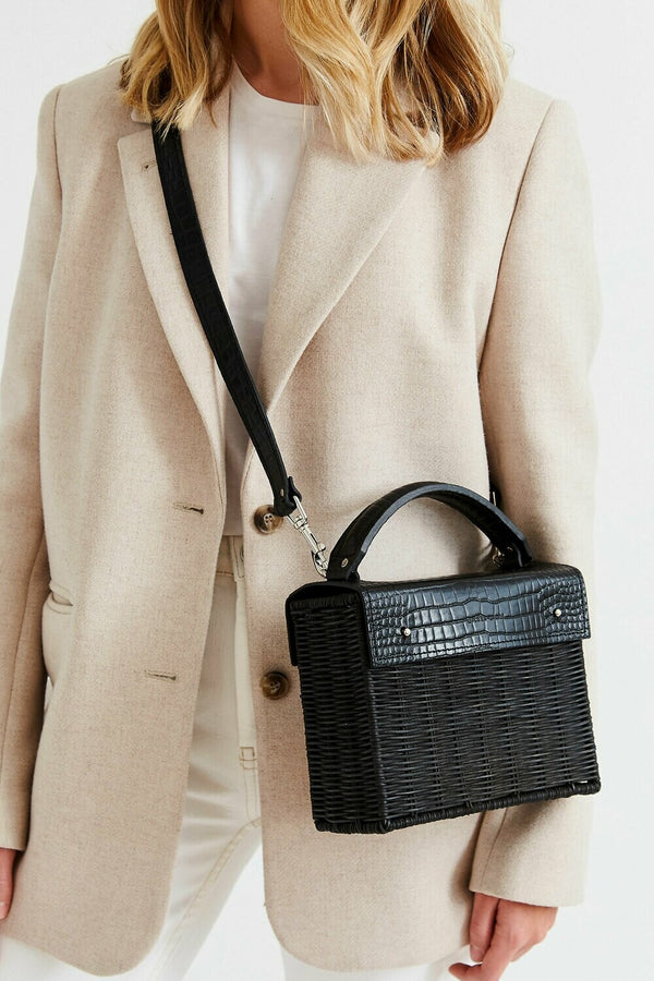 Black Wicker Bag